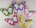 Κεραμικές πεταλούδες σε vintage χρώματα