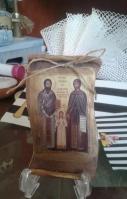 Οι Άγιοι Ραφαήλ-Νικόλαος-Ειρήνη σε πάπυρο