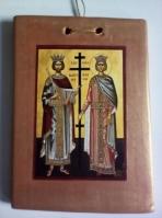 Άγιοι Κωνσατντίνος και Ελένη σε καδράκι