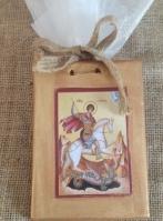 Καδράκι με εικόνα Αγίου Γεωργίου