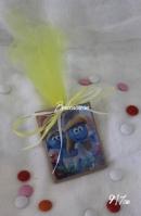Καδράκι στρουμφάκι-στρουμφίτα μαγνητάκι