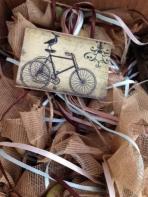 Με ποδήλατο ρετρό θέμα σε καδράκι