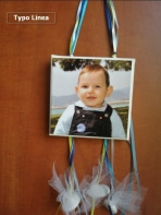 Καδράκι καμβάς με θέμα την φωτογραφία του μωρού σας