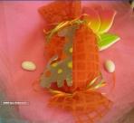 Οργαντίνα καρώ καραμέλα με μεταλλική καμηλοπάρδαλη