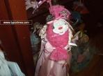 Καραμέλα οργαντίνα καρρώ φούξια με μεταλλική Μίνι