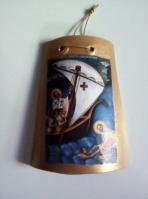 Άγιος Νικόλαος σε κεραμίδι από πηλό
