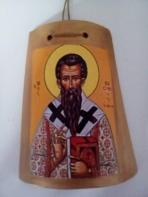Ο Άγιος Βασίλειος σε κεραμίδι