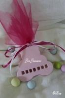 Χειροποίητη μίνιμαλ κεραμική αρκουδάκι ροζ τρύπες