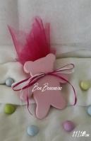 Χειροποίητη μίνιμαλ κεραμική αρκουδάκι ροζ