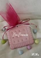 Χειροποίητη μίνιμαλ κεραμική ροζ μπισκότο