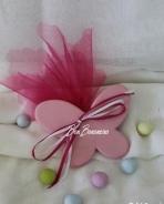 Χειροποίητη μίνιμαλ κεραμική ροζ πεταλούδα