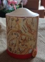 Κερί ντεκουπάζ με θέμα ταξίδι στον κόσμο
