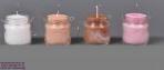 Βαζάκια με κερί σε ρεσώ