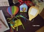 Φανταστική μπομπονιέρα σε κουτί κύβο με θέμα το αερόστατο