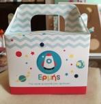 Lunch-box κουτί με διαστημόπλοιο-πύραυλο