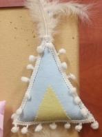 Σκηνή ινδιάνου ρετρό μαξιλαράκι μπλε