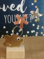 Ψαράκι-αστερίες τριπλό μεταλλικό σταντ