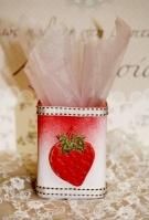 Με την φράουλα πορσελάνινη μολυβοθήκη