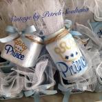 Βαζάκια γυάλινα με Πρίγκιπα-κορόνα