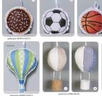 Πάνινο αερόστατο κρεμαστή μπομπονιέρα