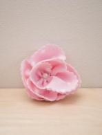 Λουλουδάκι πουά λευκό με ροζ