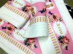 Πετσέτα εκτυπωμένο θέμα φλοράλ-πεταλούδες