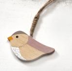 Καδράκι πουλάκι από ξύλο