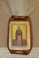 Κεραμικός πάπυρος με εικόνα της Αγίας Αριάδνης