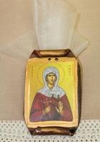 Η Αγία Ευανθία σε πάπυρο εικόνα