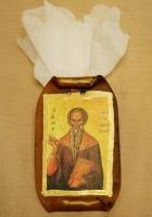 Εικόνα σε πάπυρο με τον Άγιο Χαράλαμπο