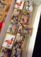 Λαδιού σαπουνάκι σπιρτόκουτο με άλογο