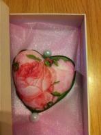 Τριαντάφυλλο με decoupage σε σαπουνάκι.