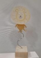 Σταντ μεταλλικό με λιοντάρι σμάλτο