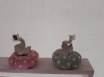 Κολοκύθα πανί με πεταλούδα-φύλλο μεταλλικά