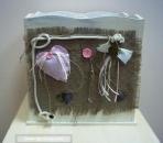 Με καρδούλες ένα ρομαντικό κουτί βάπτισης