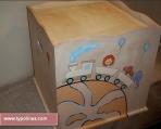 Κουτί βαπτιστικών με θέμα το τρενάκι