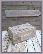 Φιογκάκια ρετρό για ευχές κουτί