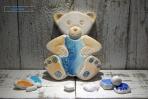 Αρκουδάκι για αγοράκι κεραμικό πλακάκι