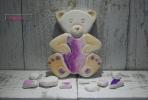 Υπέροχο αρκουδάκι κεραμική μπομπονιέρα