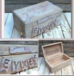 Πουλάκια-birds vintage σε κουτί ευχών