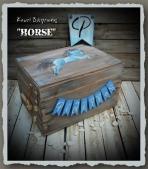 Ευχολόγιο ή κουτί βάπτισης με το άλογο