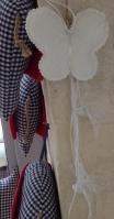 Bronderie ύφασμα σε πεταλούδα κρεμαστή