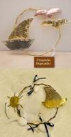 Στεφανάκι με καράβι ήλιο ή γλάρους από ευγενή μέταλλα .