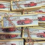 Μολυβοθήκη κουτί με αυτοκίνητα εποχής