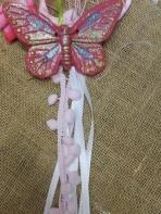 Πεταλούδα πήλινη με οικολογικά χρώματα