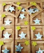 Αστεράκια από αλουμίνιο σε καδράκι