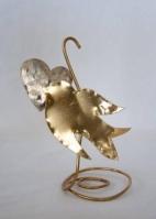 Πουλάκι με καρδούλα σταντ με χάλκινη βάση