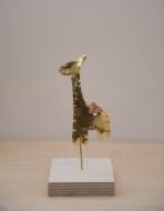 Καμηλοπάρδαλη σταντ από ορείχαλκο