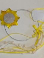 Ήλιος μεταλλικός ονειροπαγίδα στεφανάκι