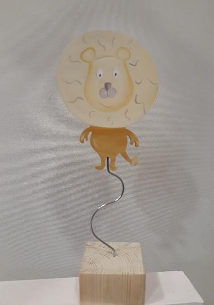 Σταντ λιοντάρι σμάλτο μεταλλική χειροποίητη μπομπονιέρα βάπτισης